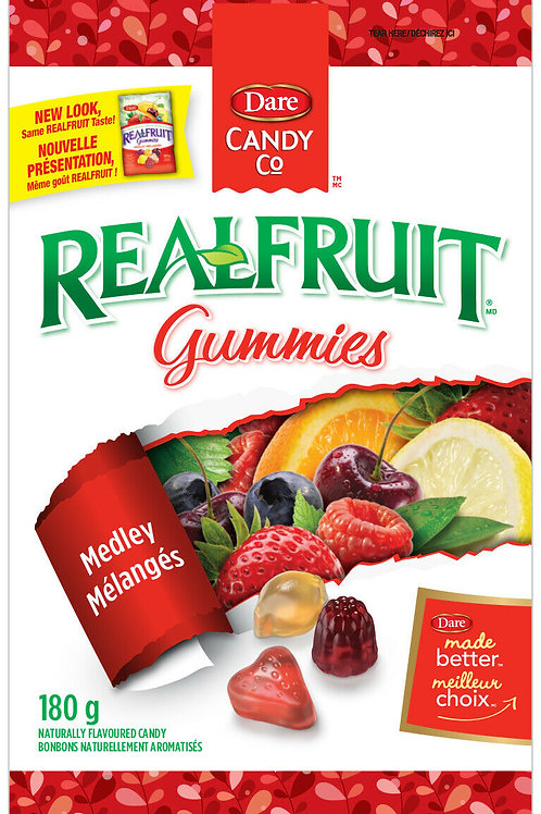 Dare Real Fruit Gummies (Medley) - 180g