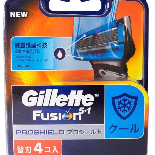 吉列Fusion Proshield冷刃4片
