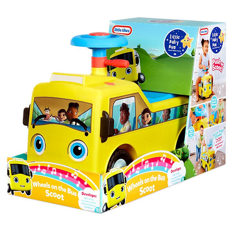 Little Tikes - Little Baby Bum Wheels on the Bus Scoot & Push Ride On