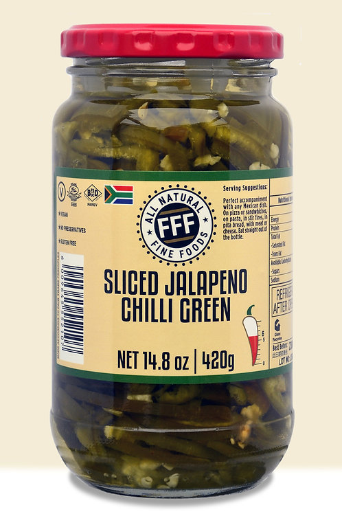 FFF Sliced Jalapeno Chilli Green