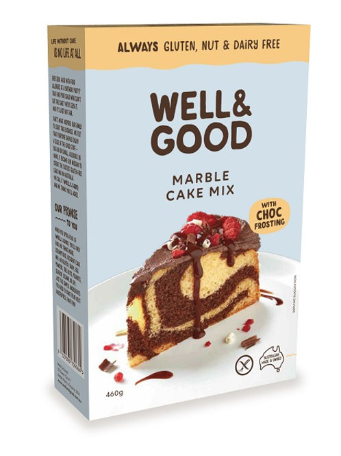 Well & Good Allergy free Marble cake mix with Choc Frosting (460g)