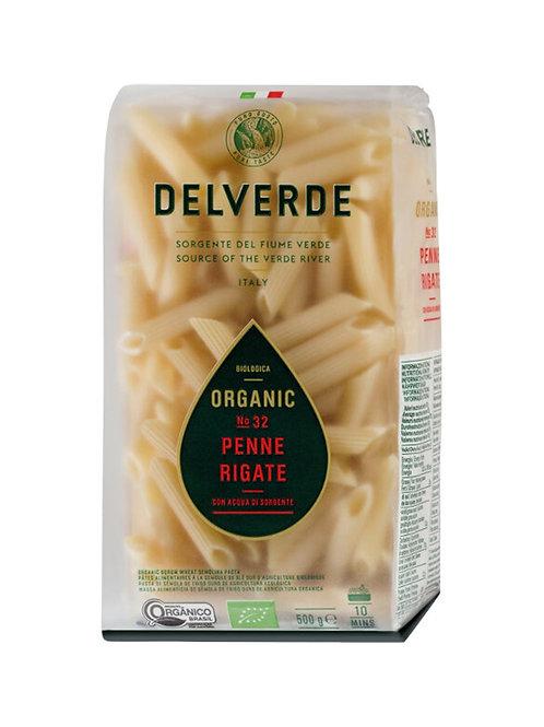 Delverde Organic Penne Rigate No. 32 - 500g