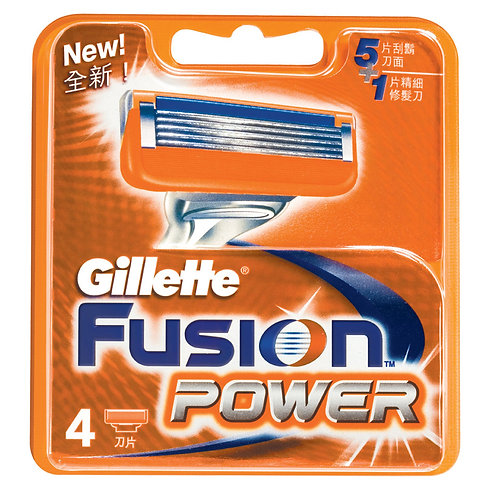 Gillette Fusion Power 5+1 Blades 4's