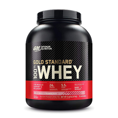 ON 100% Gold Standard Whey Strawberry - 5lb
