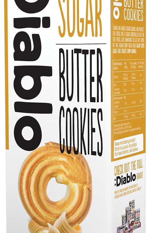 Diablo Butter Cookies (No Sugar Added) - 135g x 3