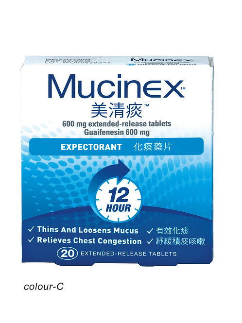 Mucinex Extended-release Tablets 600mg Guaifenesin 600mg Expectorant 20s