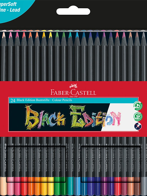 Faber Castell Colour Pencils Black Edition 24x