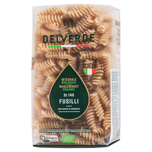 Delverde whole wheat Organic Fusilli No.146 - 500g