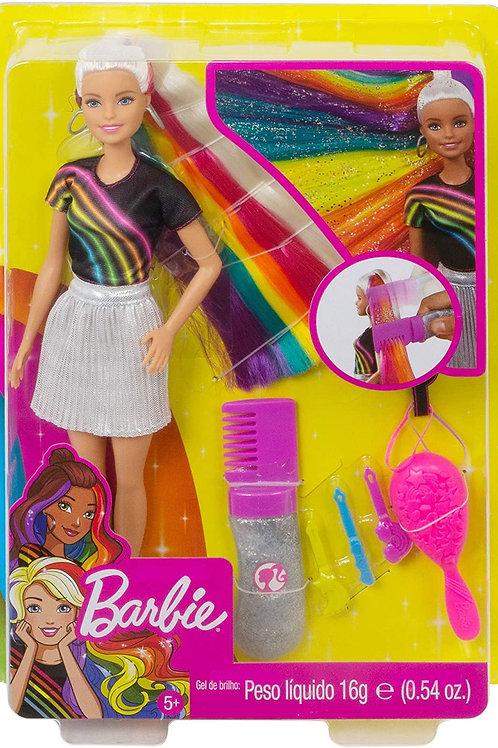 Barbie®️ Rainbow Sparkle Hair Doll