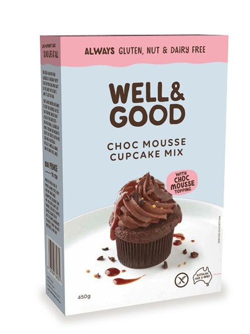 Well & Good Allergy free Choc Mouse Cup Cake mix with Choc Mouse topping (450g)