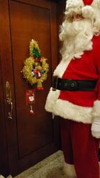 Santa at the door