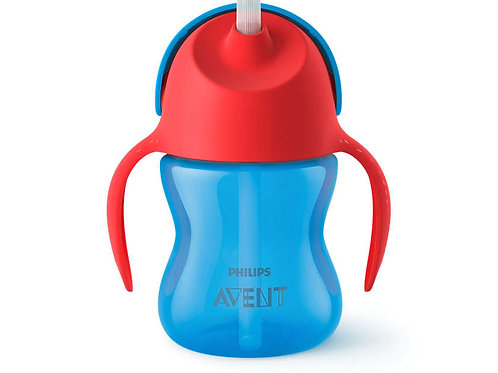 Philips Avent 9M+ Straw Cup - Blue (200mL)