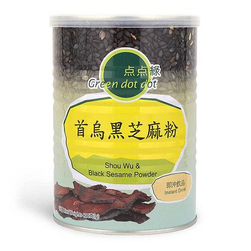 Green DOT DOT Shou wu & Black Sesame Powder -400g