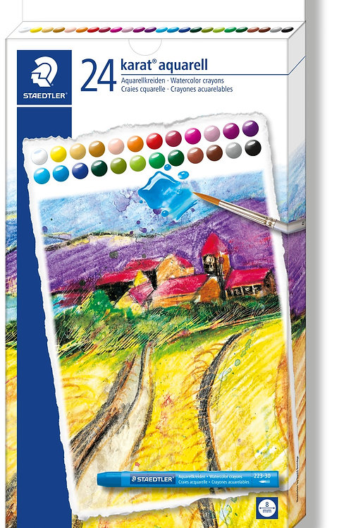 Staedtler Karat Aquarell Watercolor Crayons 24