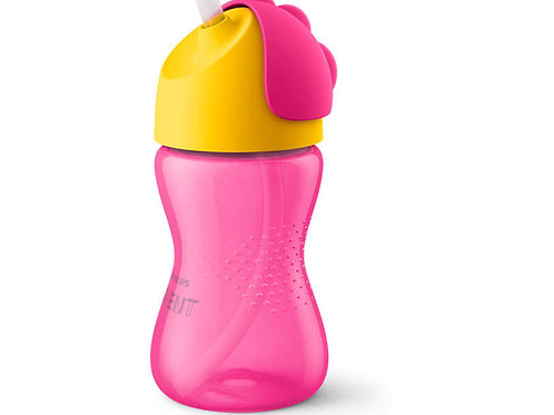 Philips Avent 12M+ Straw Cup -Pink (300mL)