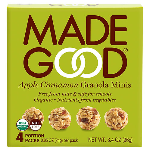 Madegood有機蘋果肉桂格蘭諾拉麥片-96克x 3