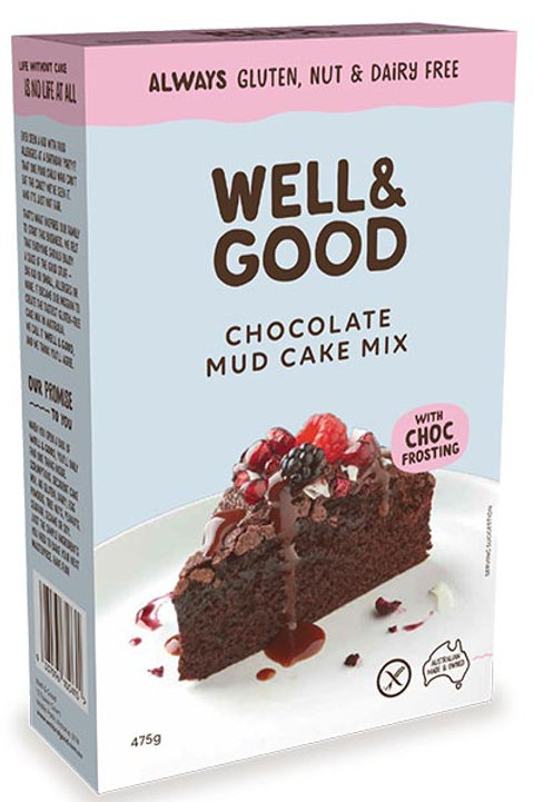 Well & Good Allergy free Choc Mud Cup Cake mix with Choc Frosting (475g)