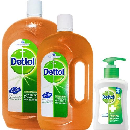 Dettol消毒液1.95L +洗手液250g