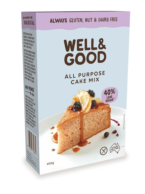 Well & Good Allergy free reduced sugar all purpose cake mix (400g)