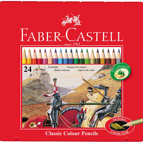 Faber Castell Classic Colour Pencils Tin/ 24