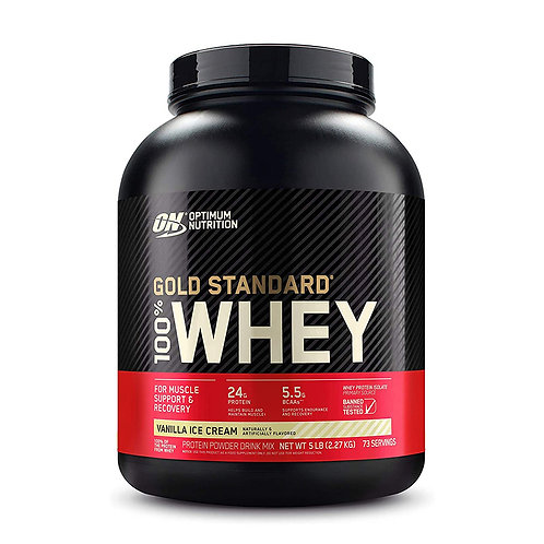 ON 100% Gold Standard Whey Vanilla Ice Cream - 5lbs