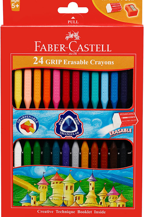 Faber Castell Grip Erasable Crayons Box/ 24