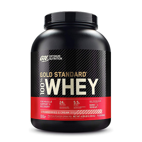 ON 100% Gold Standard Whey Strawberry & Cream - 4.99lb