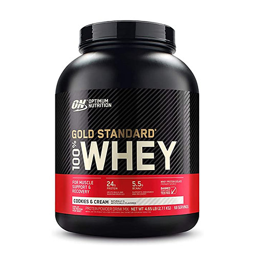ON 100% Gold Standard Whey Cookies & Cream - 4.65lbs