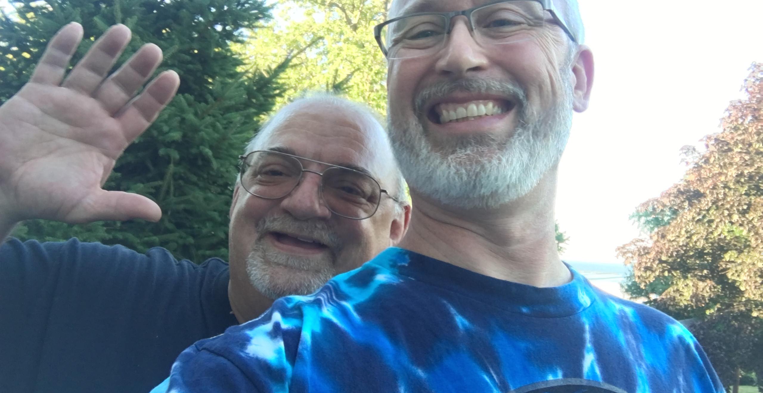 Pledge Brothers and former roomies- Joe Basso, Howard Spring 1986 pledge class