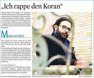 Exil-Iraner Kölner Musiker Shahin Najafi wird massiv bedroht