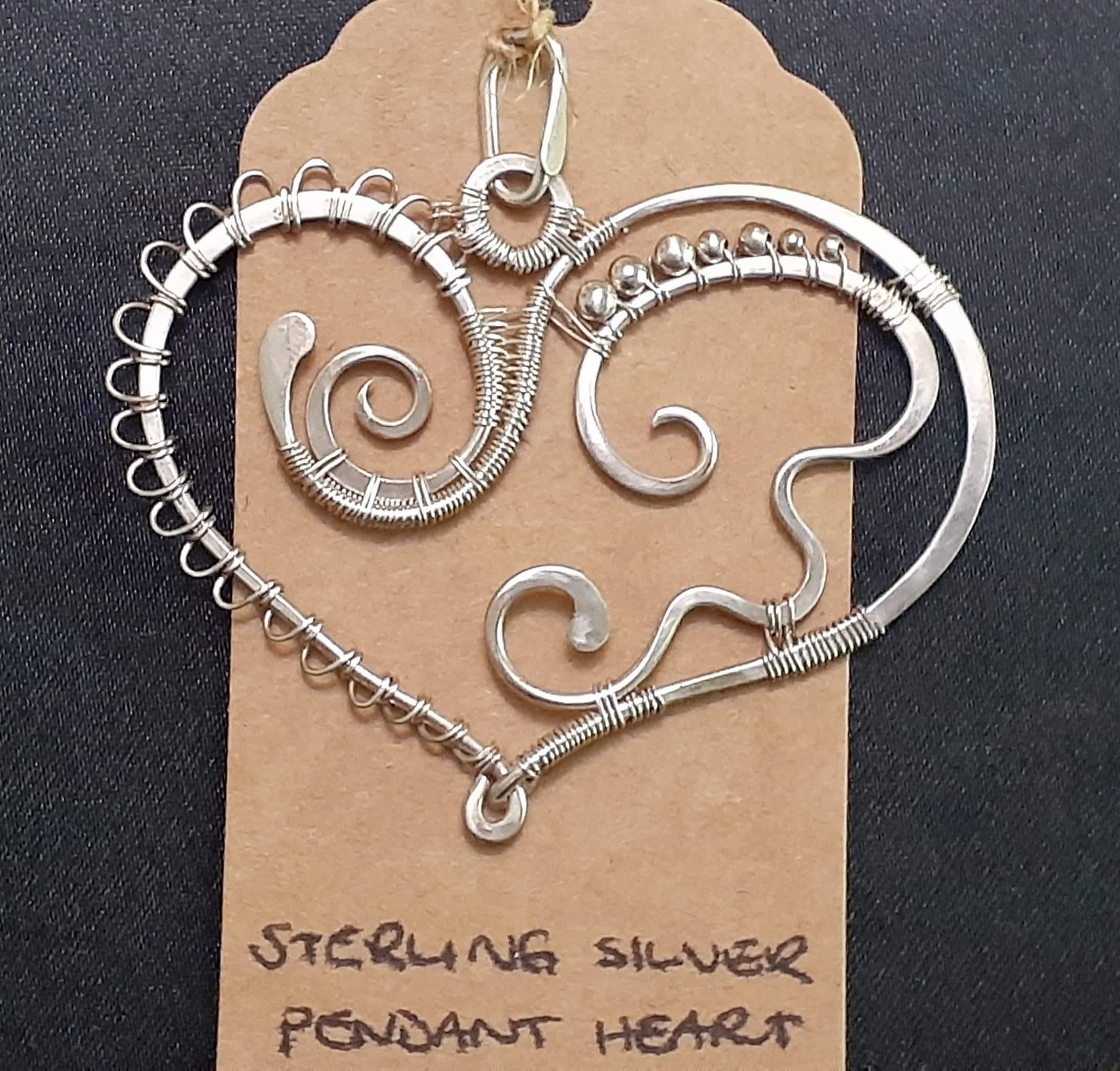 Sterling Silver Pendant Heart
