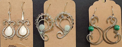 Sterling Silver Wire Wrapt Ear Rings