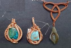 Copper Wire Wrapt Pendants