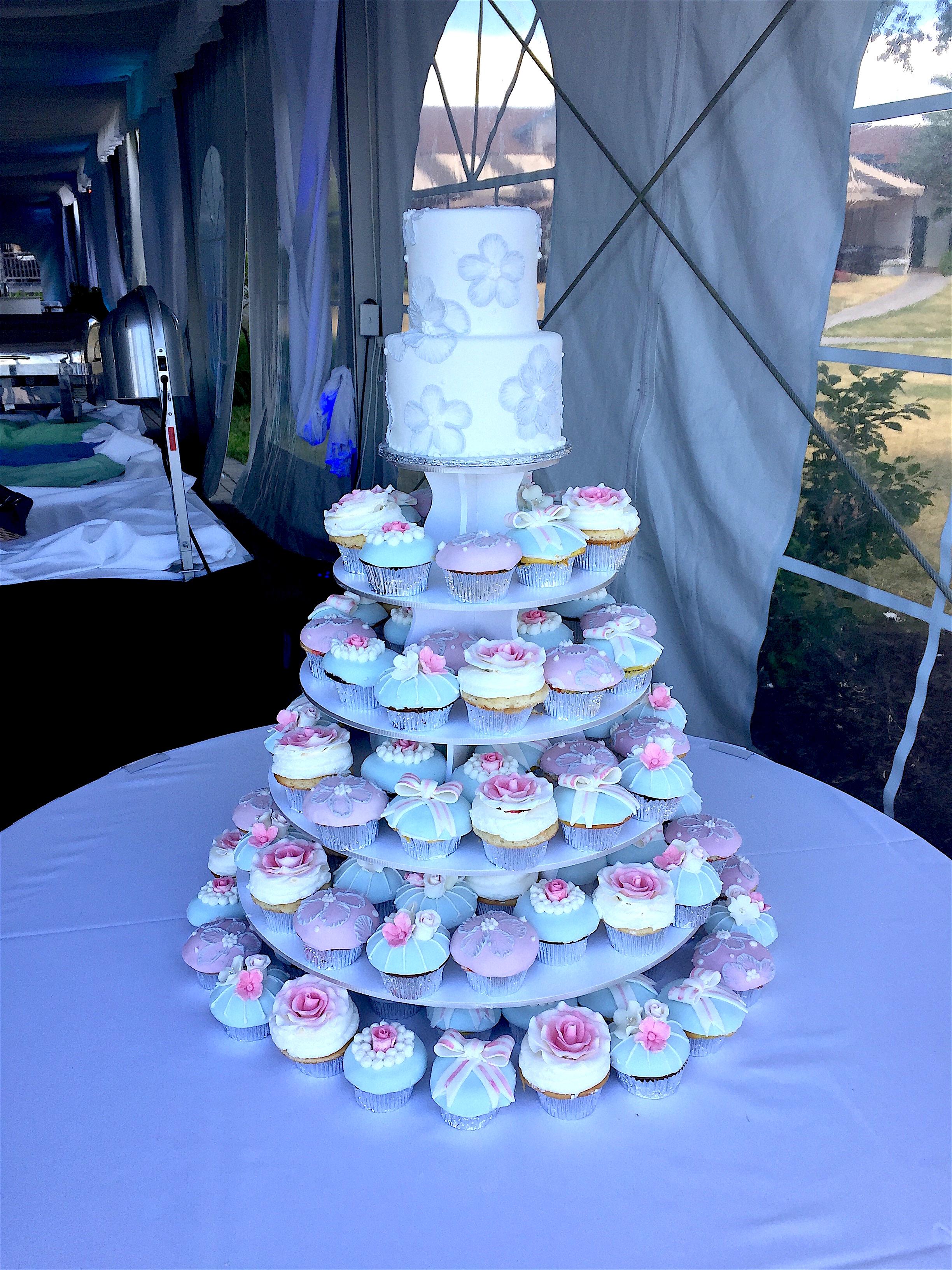 Wedding Cake wCupcakes27 Display