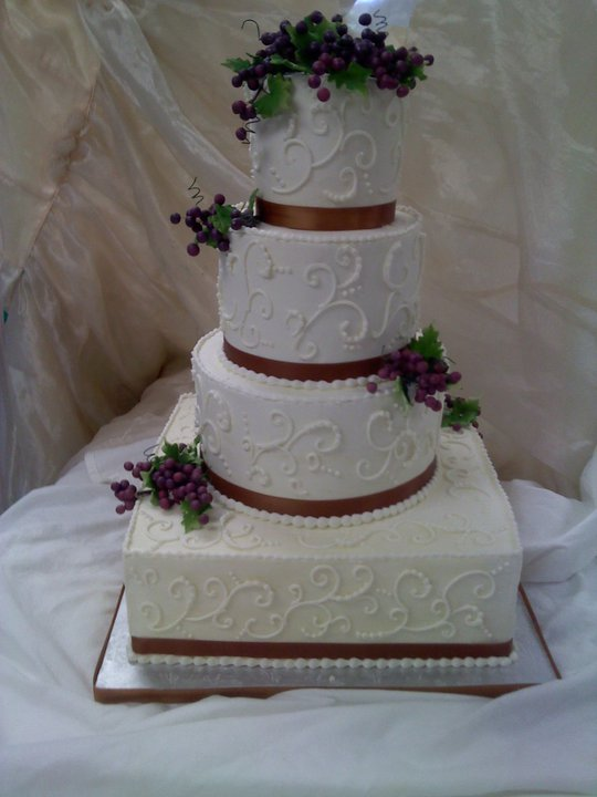 Wedding Scrolls14 Brown Ribbon