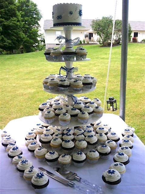 Wedding Cake wCupcakes8 Display