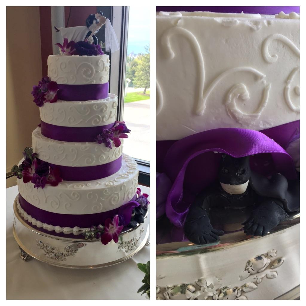 Wedding Scrolls3 Purple Ribbon display