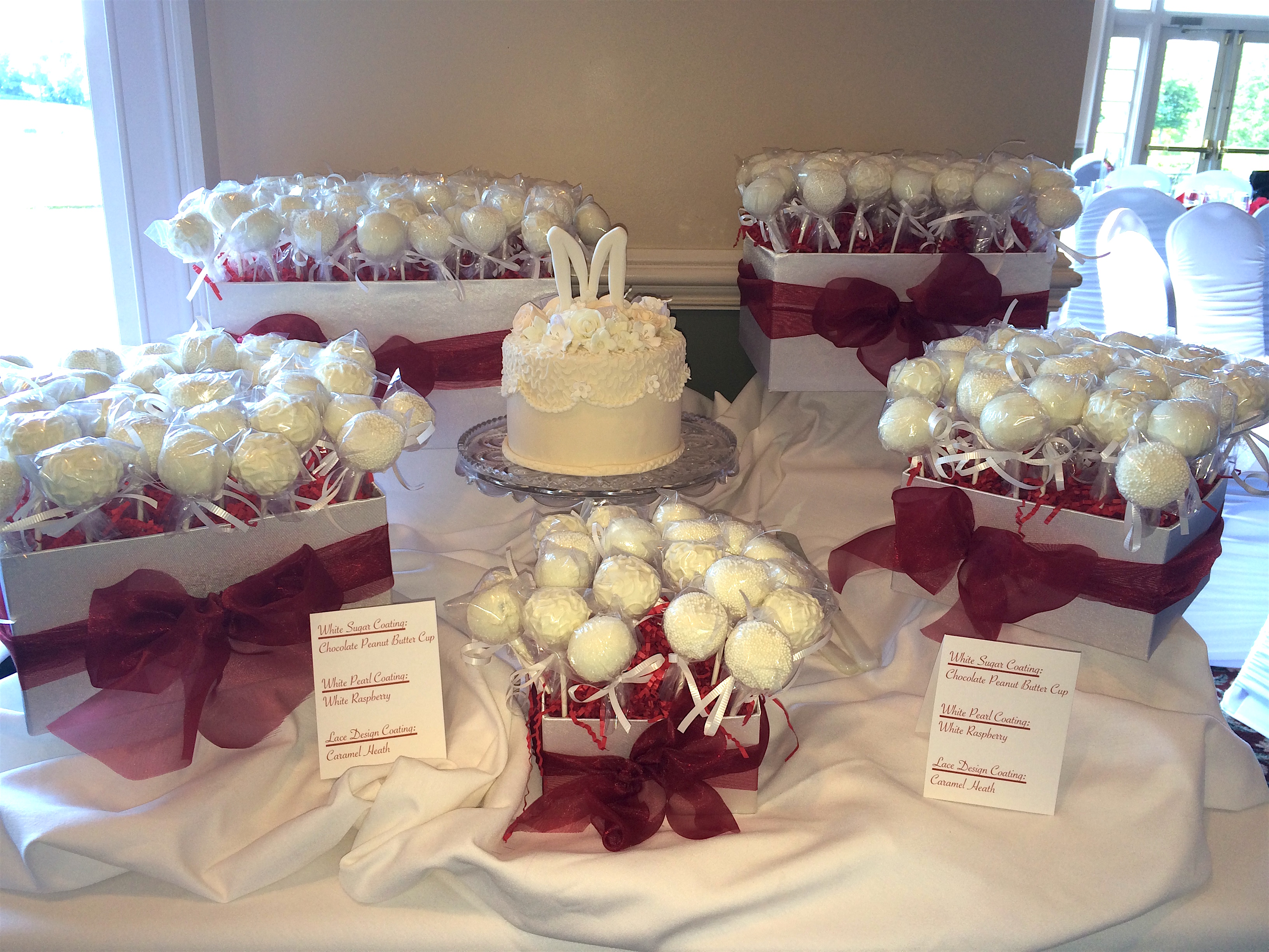 Wedding Cake wCakepops1 Display