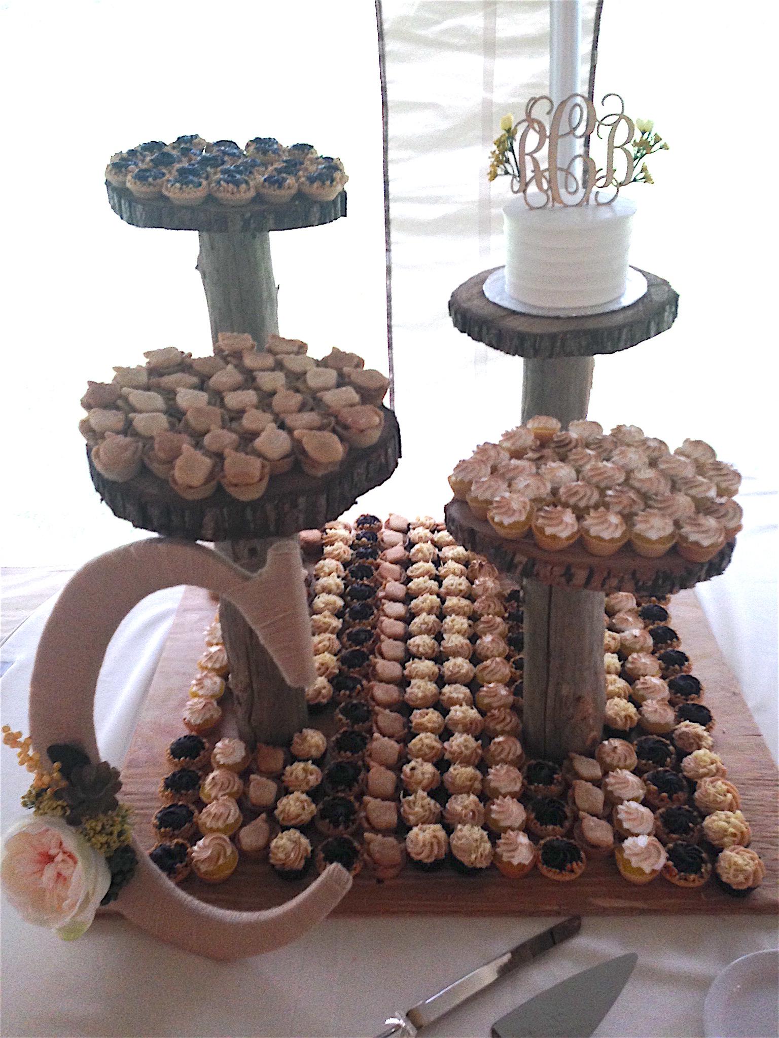 Wedding Cake wPastries3 Display