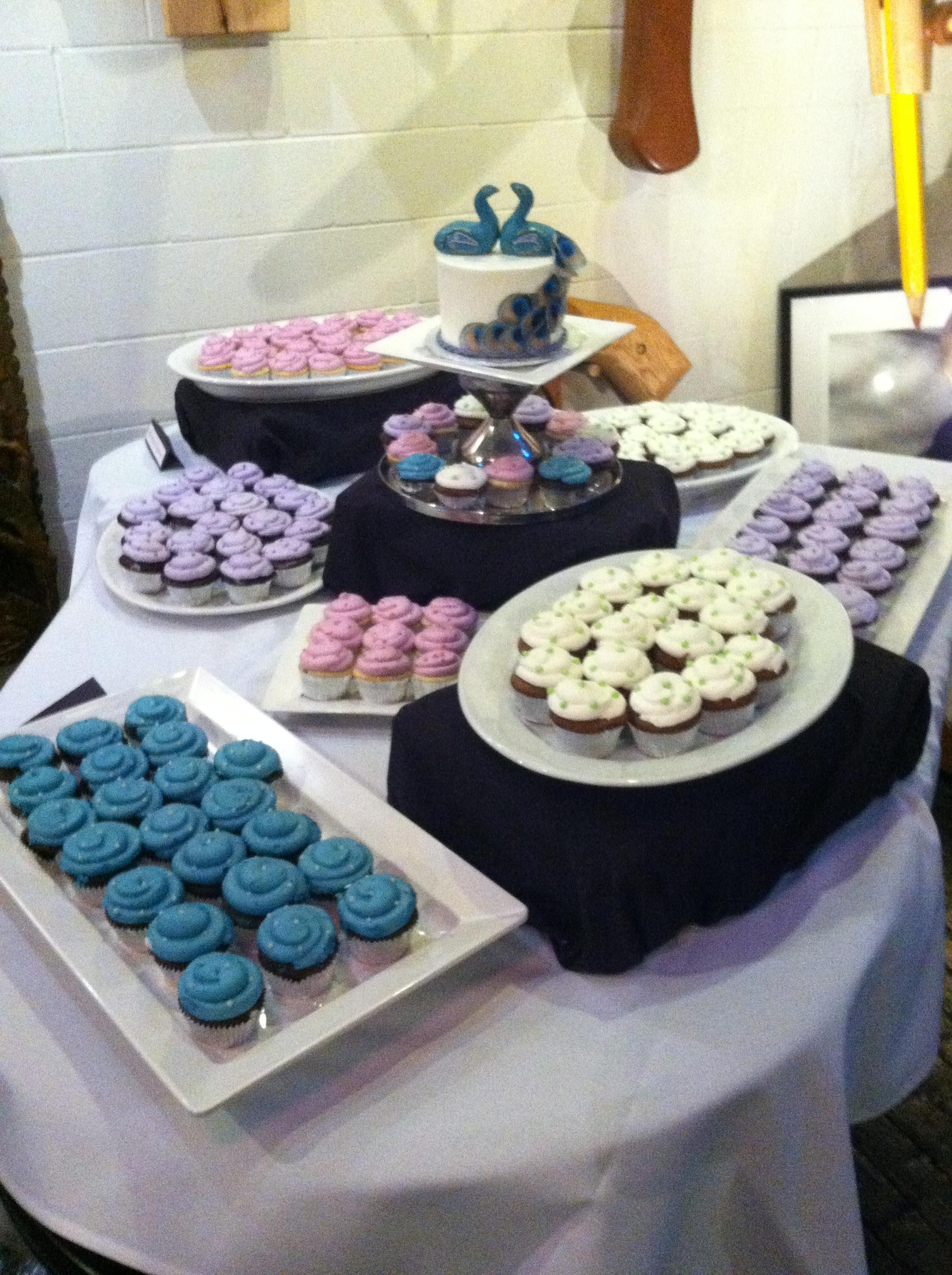 Wedding Cake wCupcakes10 Display