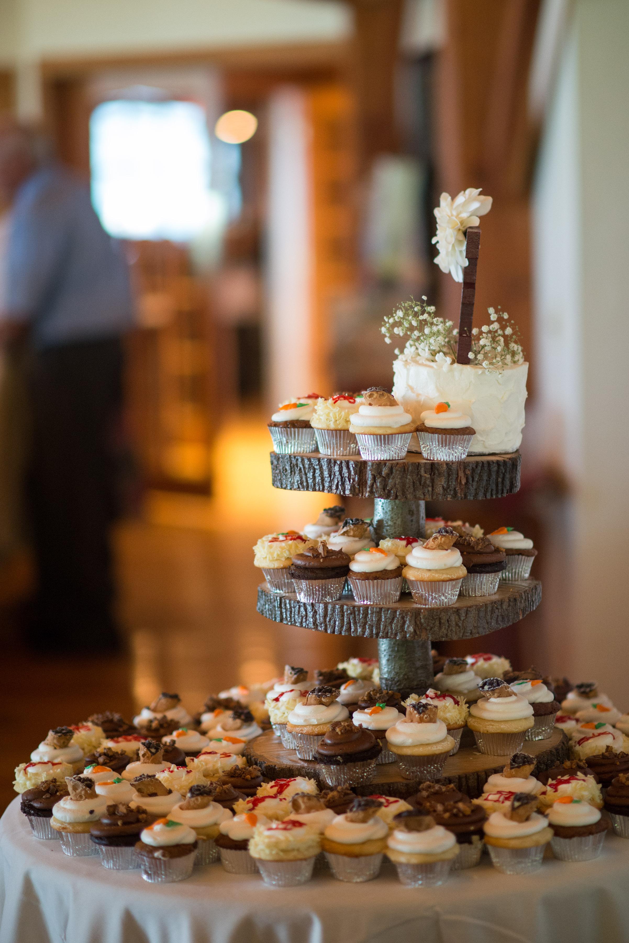 Wedding Cake wCupcakes4 Display Side