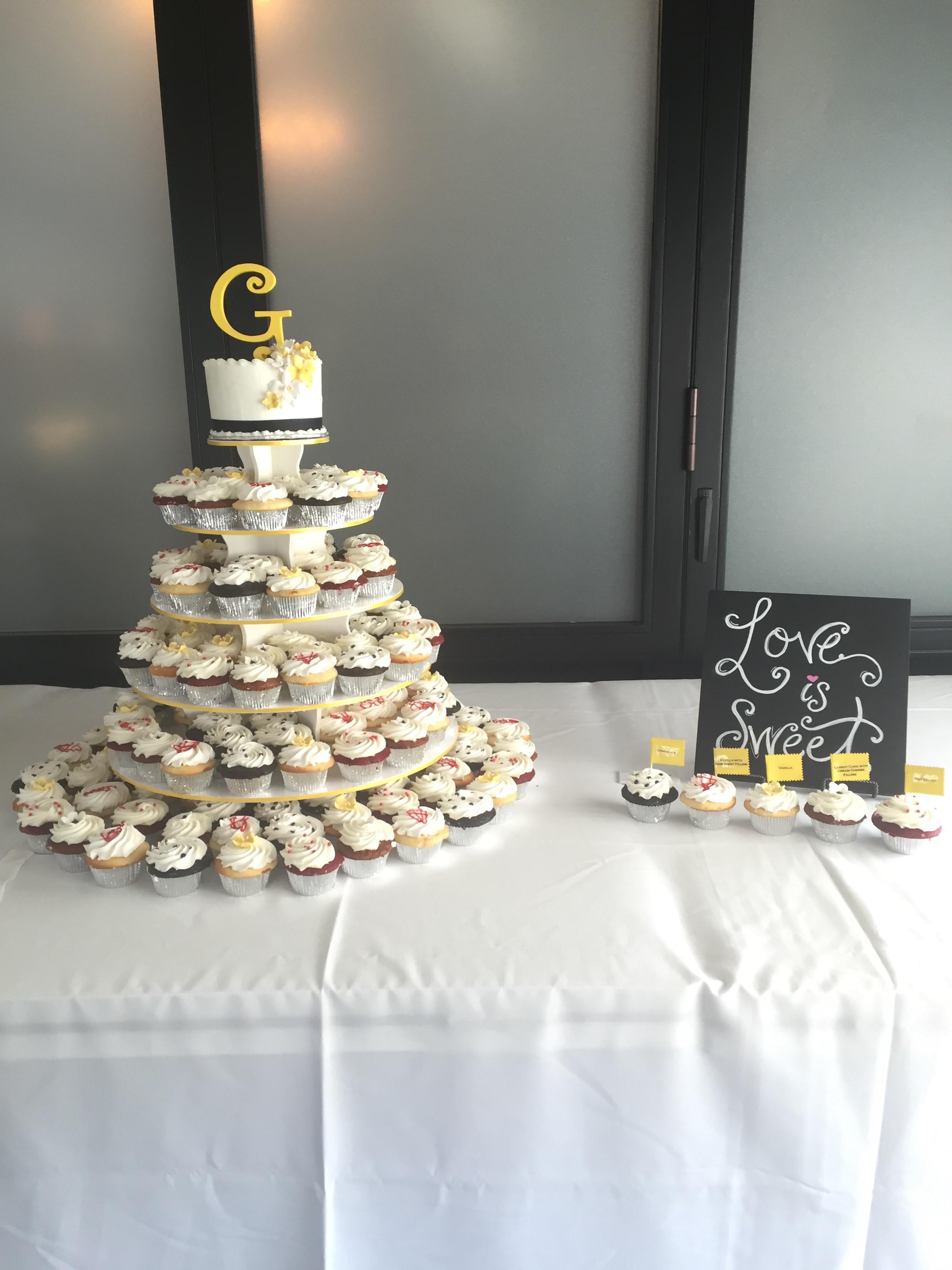 Wedding Cake wCupcakes1 Display