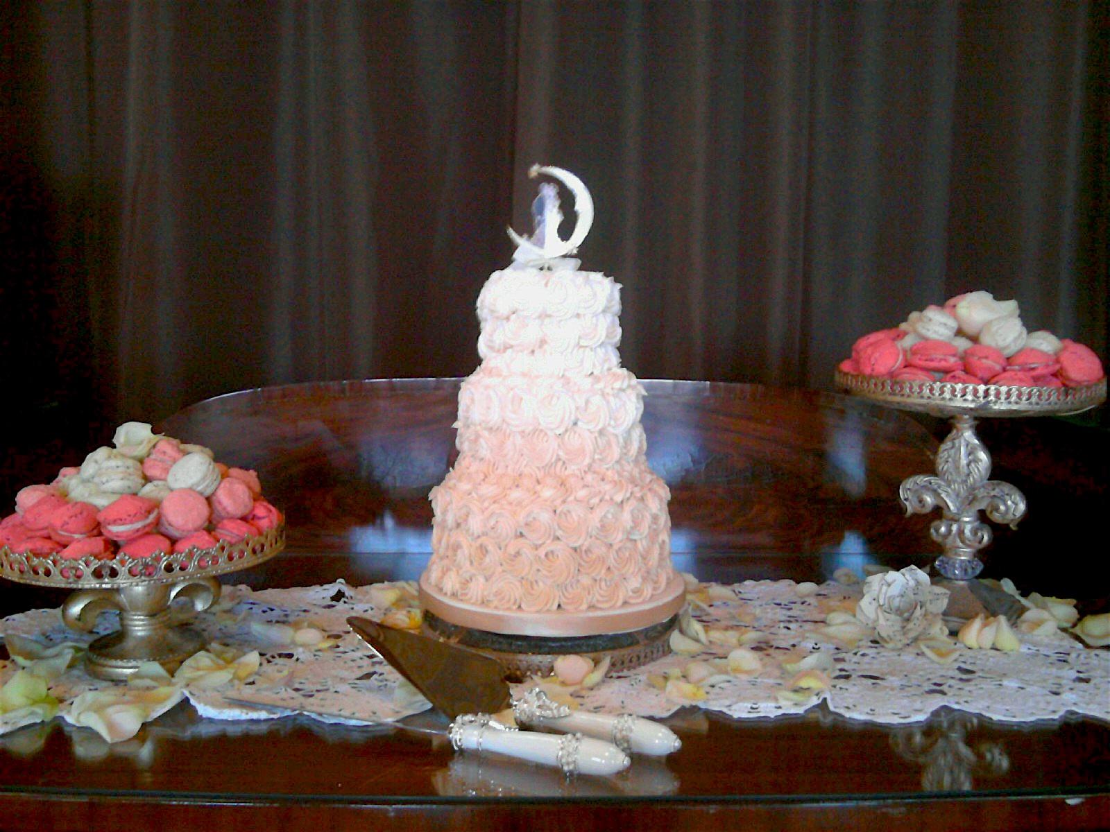 Wedding Cake wMacaroons1 Display