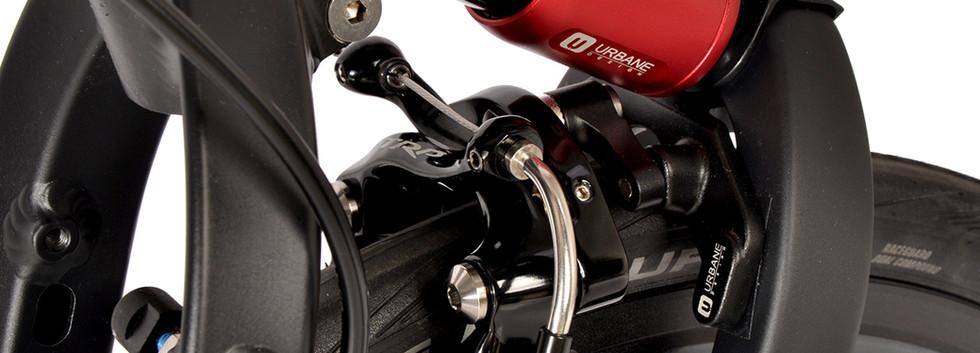 U DESIGN Caliper Brake Adaptor For Birdy (Black)