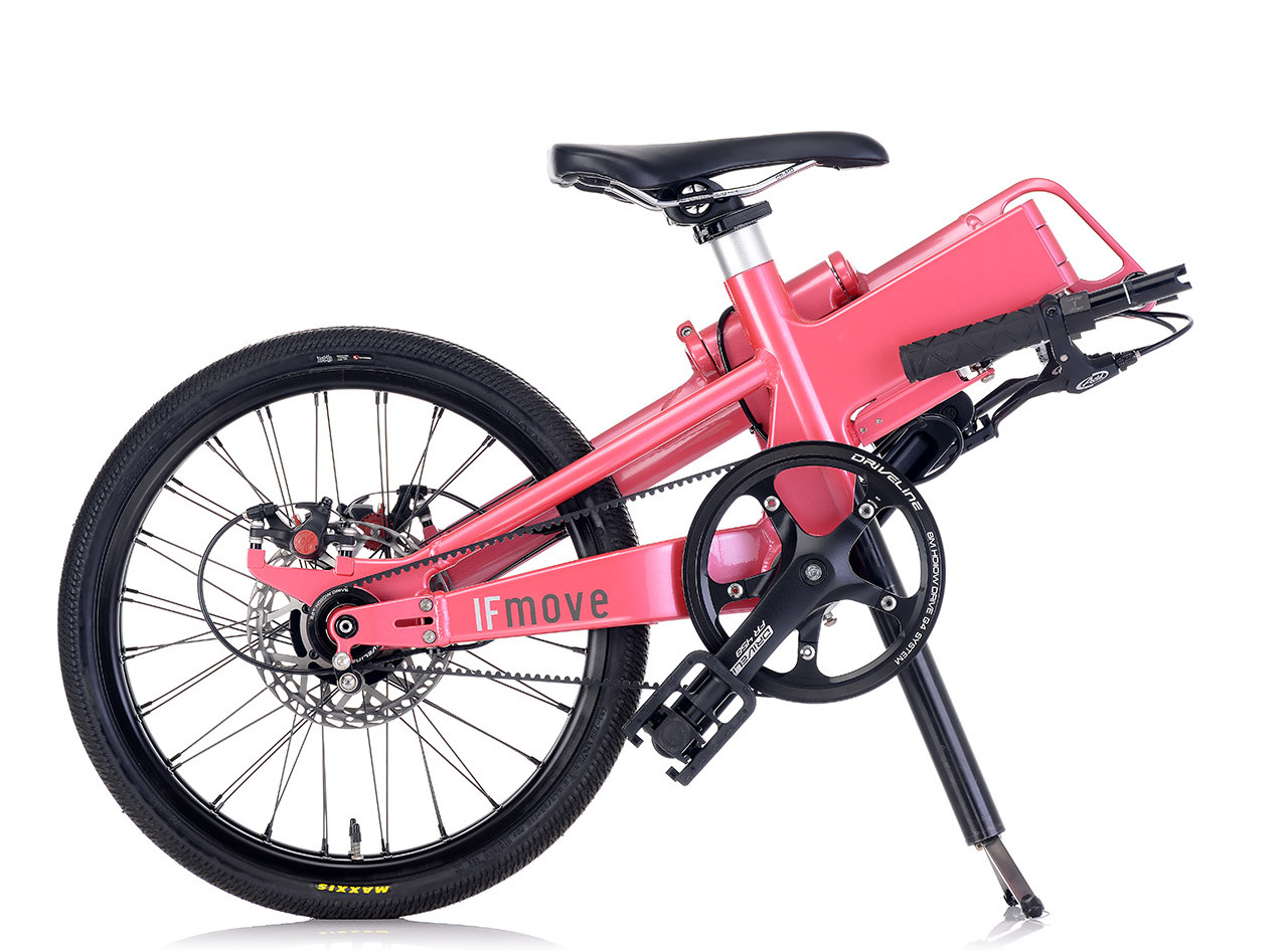 IF MOVE Belt Drive Single Speed Galaxy Pink folded
