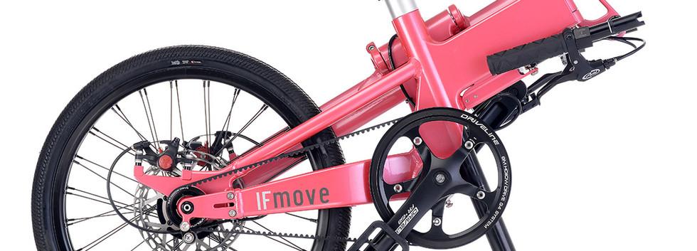 IF MOVE Belt Drive Single Speed Galaxy Pink folded