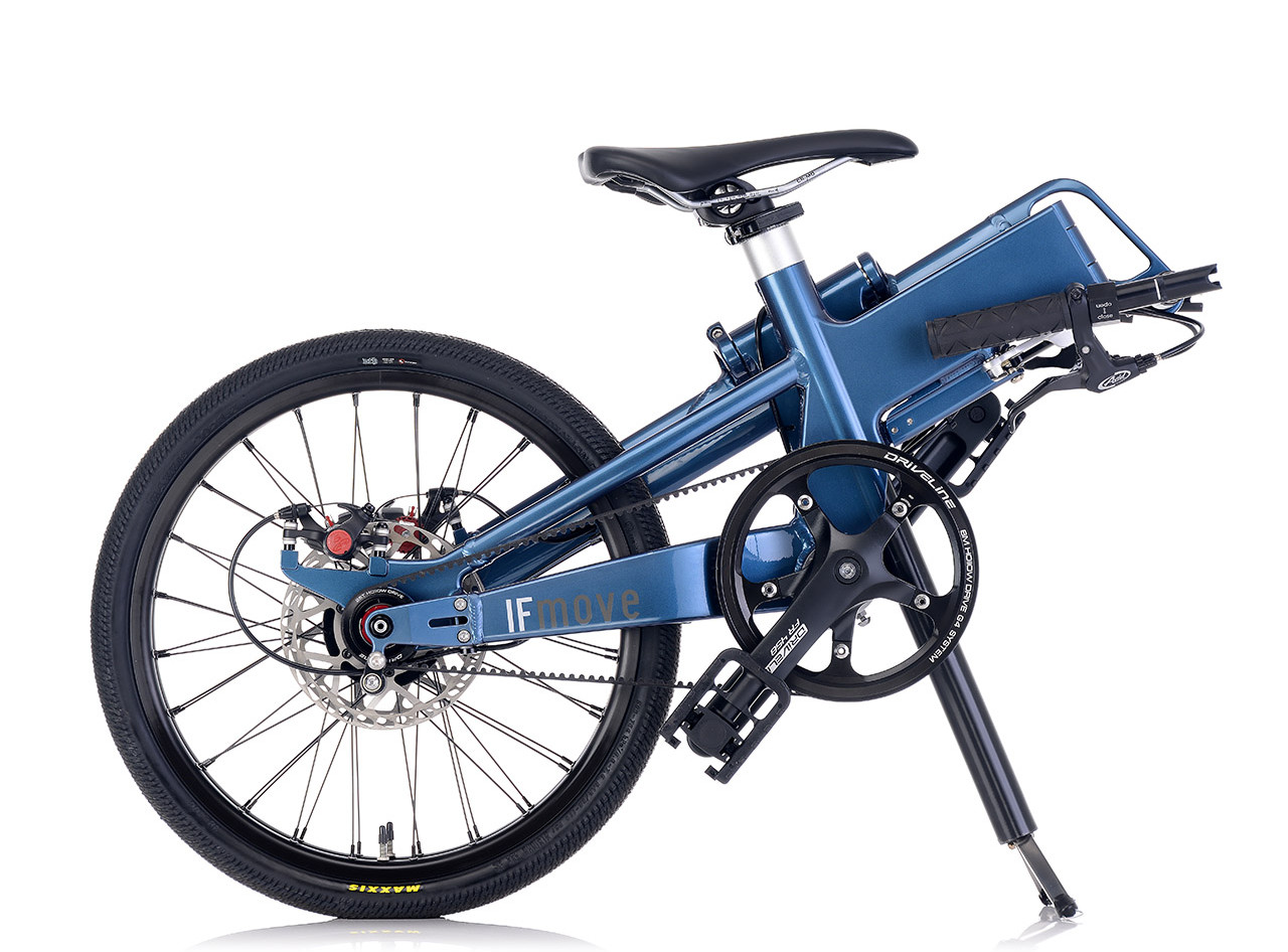 IF MOVE Belt Drive Single Speed Galaxy Blue folded