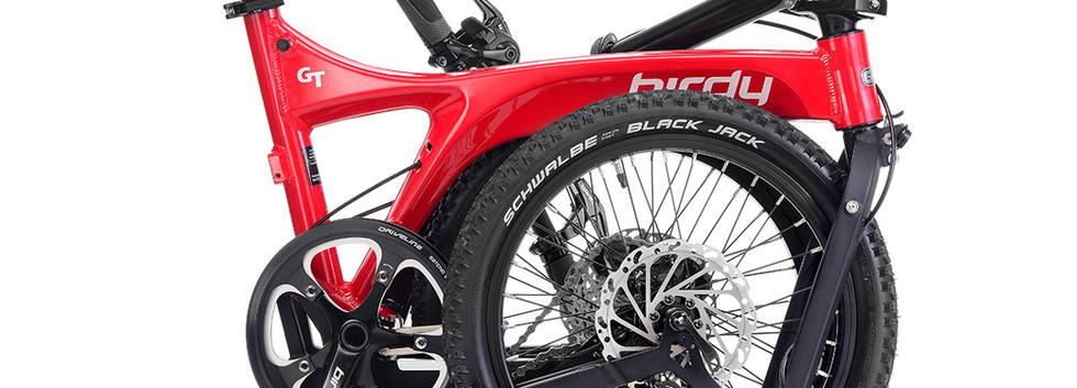 NEW BIRDY GT 10SP Red + Black fold
