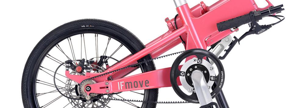 IF MOVE Belt Drive Dual Speed Galaxy Pink folded