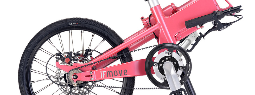 IF MOVE Belt Drive Dual Speed Galaxy Pink folded